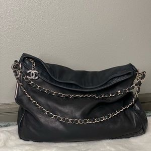 Chanel Black Lambskin Hobo